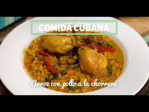 COMIDA CUBANA - Arroz con pollo a la chorrera