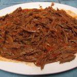 Carne desmenuzada Receta Comida Nicaraguense