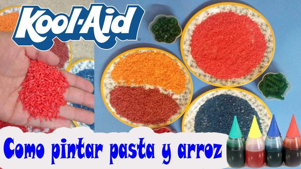Como pintar arroz y sopas con Kool-Aid y Pintura vegetal // No Tóxico