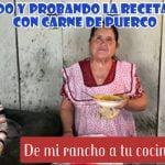 DE MI RANCHO A TU COCINA||Recreando y probando la receta frijoles con carne de puerco