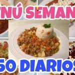 MENÚ SEMANAL | COMIDAS CASERAS | COMIENDO CON $50 PESOS DIARIOS | COMIDAS ECONÓMICAS | By Visan