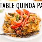 PAELLA DE QUINOA VEGANA | receta fácil de una sartén