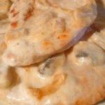 PECHUGA CON NATA Y CHAMPIÑONES - Recetas de cocina fáciles y económicas