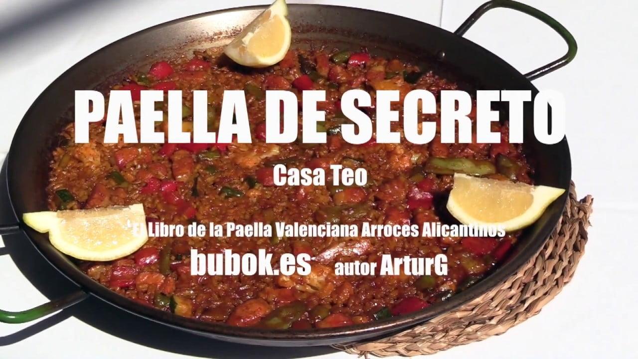 Paella de secreto ibérico Arroceria Casa Teo El Libro de la Paella Valenciana Arroces Alicantinos