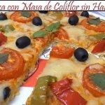Pizza con masa de coliflor sin harina | Receta de Cocina en Familia