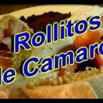 ROLLITOS DE CAMARON   Recetas de cocina para diabéticos y/o hipertensos   recetas#03   2016   Motare