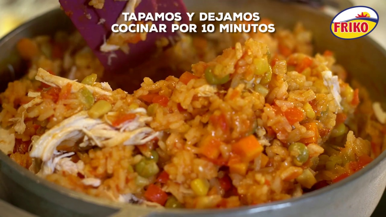 Receta Arroz con pollo colombiano