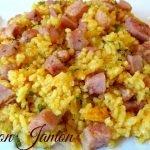 Receta de Arroz con Jamon al estilo casero facil y rico  #arroz #recetas #recetasfaciles #ricerecipe