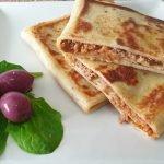 Receta de crepes salados rellenos paso a paso / comida de Marruecos
