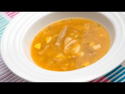 Receta de sopa de pollo con estrellitas - Karlos Arguiñano