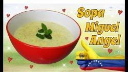 Receta del dia: Sopa Miguel Angel facil rico y rapido comida casera