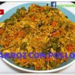 arroz con pollo a mi estilo, cocinando con anita