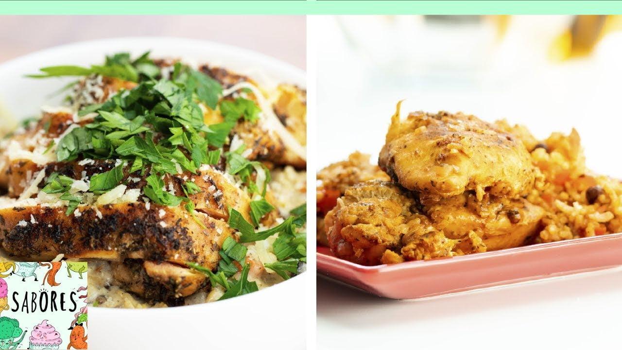 2 recetas rápidas de arroz con pollo