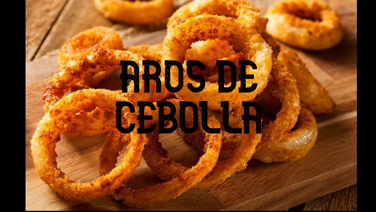 AROS DE CEBOLLA CRUJIENTES (aperitivo)- Receta de cocina sencilla, barata y super deliciosa.