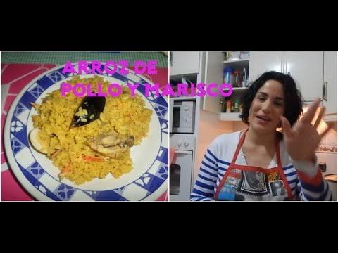 ARROZ CON POLLO Y MARISCO EN OLLA ARROCERA/Maryla y sus Recetas