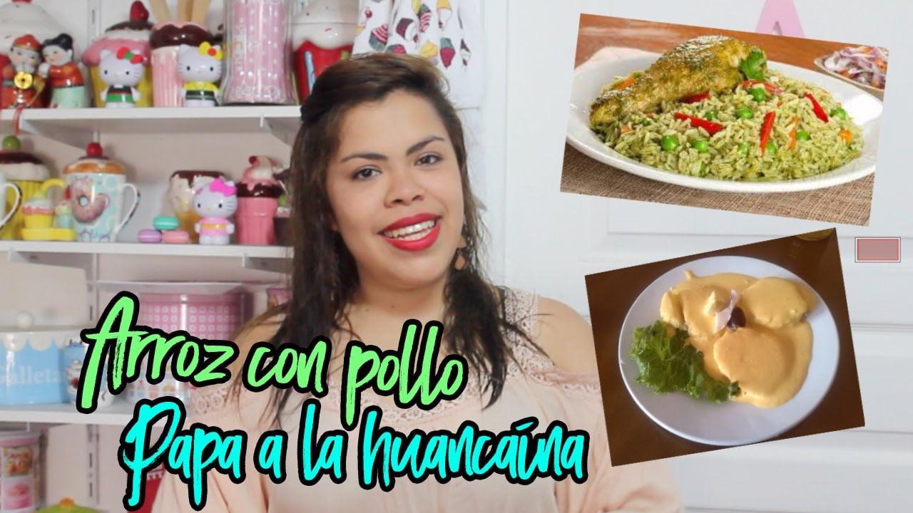 ARROZ CON POLLO Y PAPA A LA HUANCAINA ♥ Comida Peruana - Adela Montena