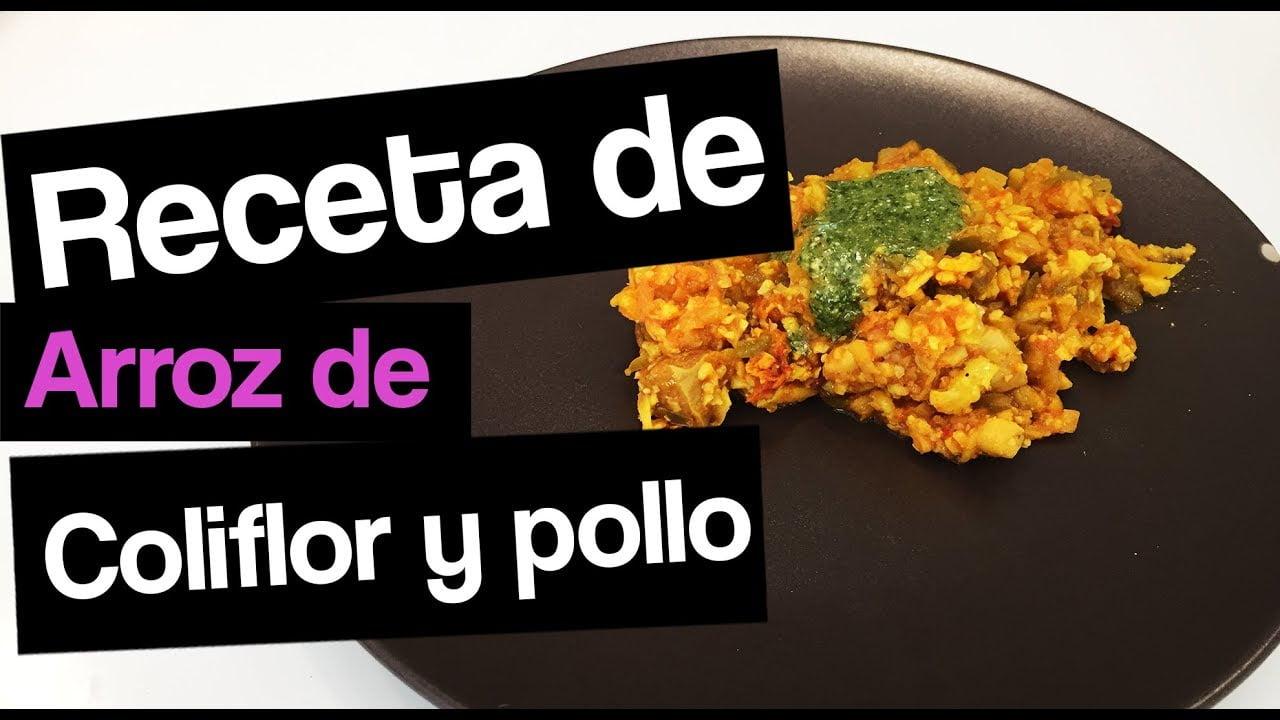 ARROZ de COLIFLOR con pollo | Receta FáCIL y Económica