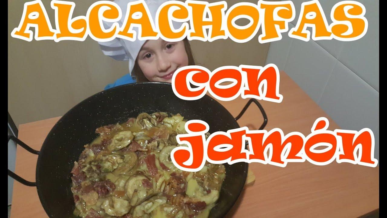 Alcachofas con jamón, receta fácil, canal cocina, infantil