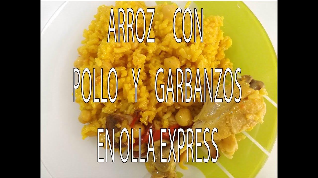 Arroz con Pollo y Garbanzos en Olla Express (Receta de mi Abuela)