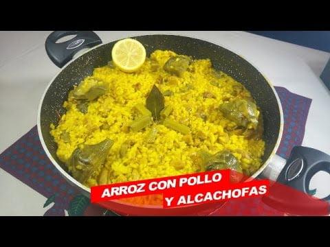 Arroz con pollo y alcachofas