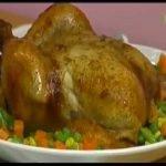Arroz tres quesos con pollo al horno encebollado en Clases de cocina con Jacqueline