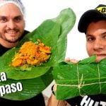 Así se hacen LOS PASTELES de arroz en BARRANQUILLA 🍘 Receta paso a paso 🍖 Comida Colombiana