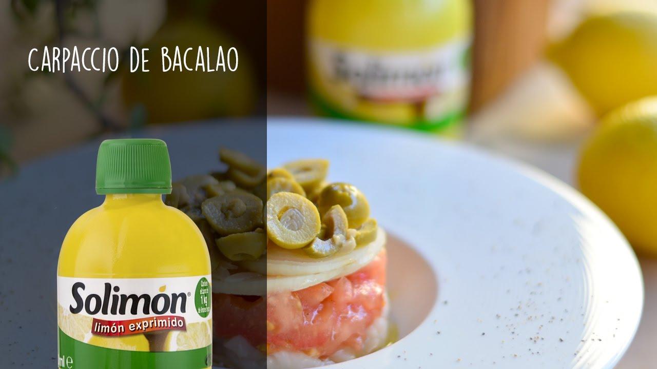 Carpaccio de bacalao-Recetas de cocina con limón
