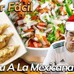 [Comida fácil] Receta Navideña Mexicoreana   Mandu(Dumpling) a la mexicana #6