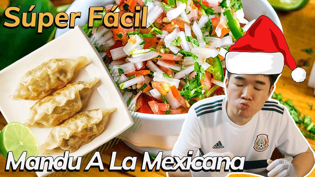 [Comida fácil] Receta Navideña Mexicoreana | Mandu(Dumpling) a la mexicana #6