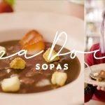 DULCE SOPA DE CHOCOLATE CON FRESAS Y CROUTON | Sopas y Cremas