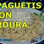 ESPAGUETIS CON VERDURAS   recetas de cocina faciles rapidas y economicas de hacer comidas ricas
