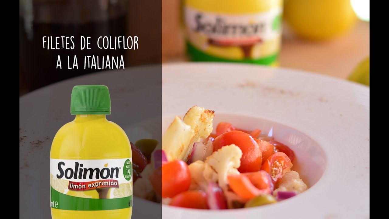 FILETES DE COLIFLOR A LA ITALIANA-Recetas de cocina con limón