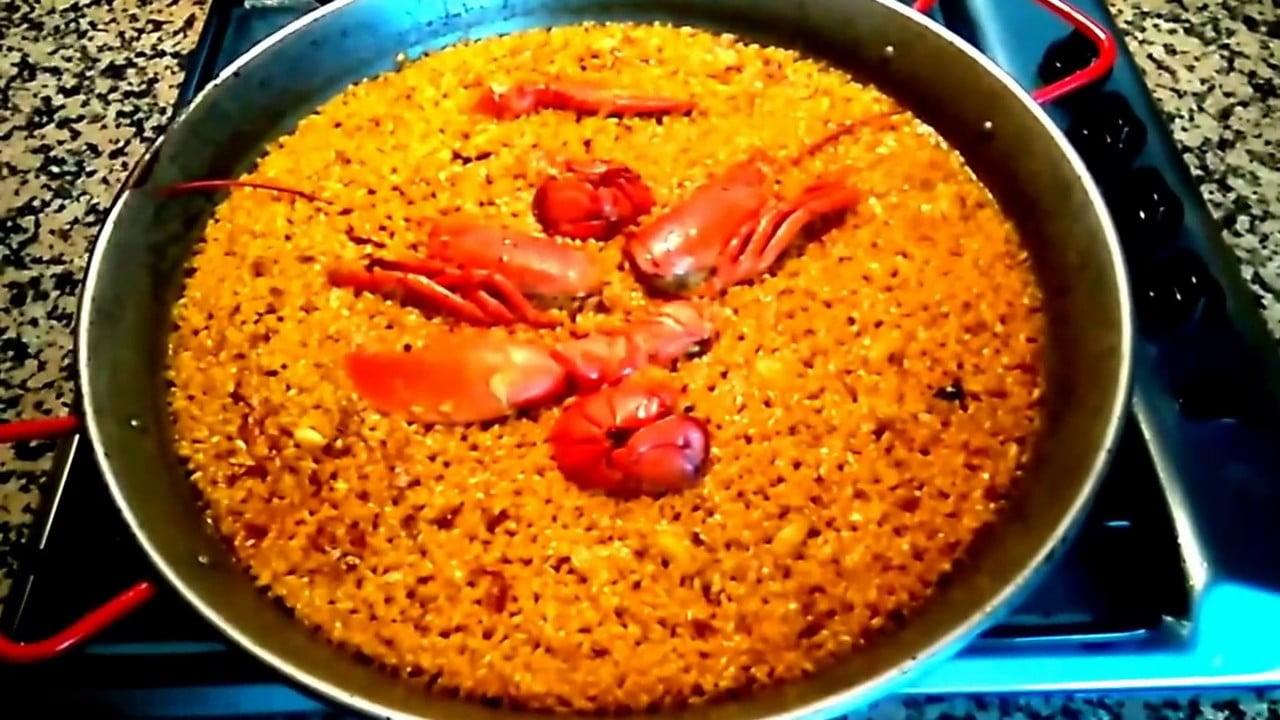 Paella de Bogavante Valeciana ( Arroz seco )