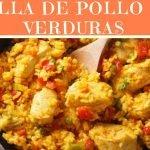 Paella de pollo con verduras-Recetas  de arroz con verduras fáciles y saludables