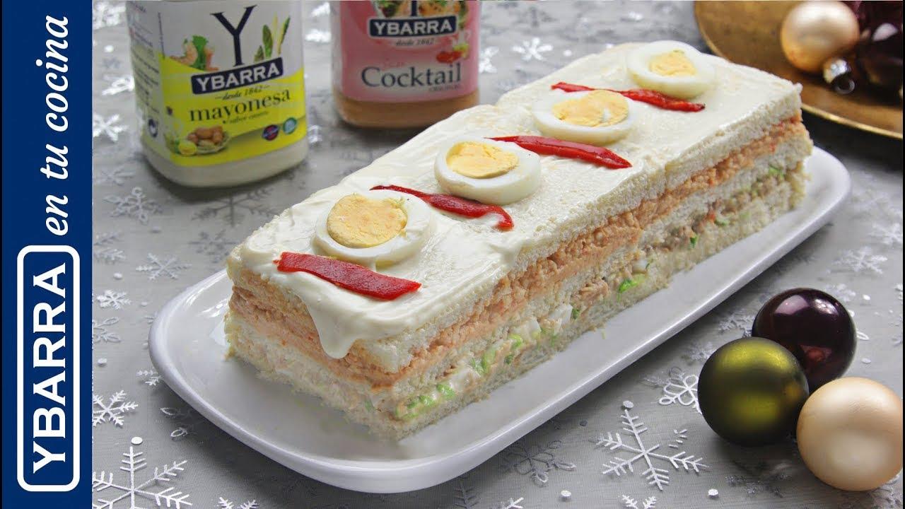 Pastel de Navidad con mayonesa y Cocktail Ybarra - Recetas de Navidad