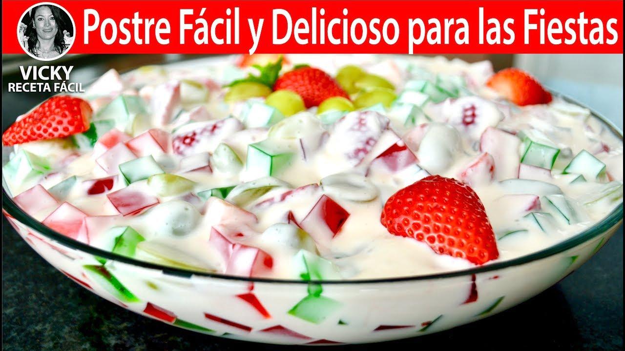 Postre Fácil y Delicioso para las Fiestas   Vicky Receta Facil