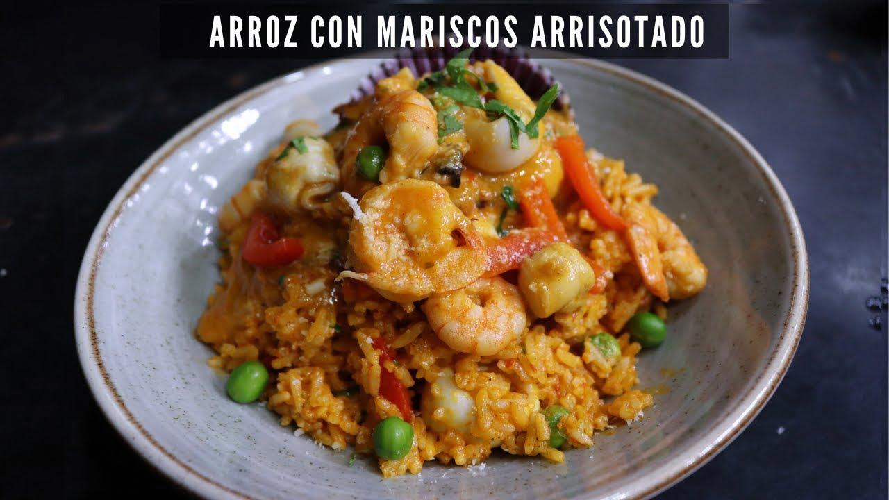 RECETA DE ARROZ CON MARISCOS ARRISOTADO | COCINA PERUANA | ABEL CA |