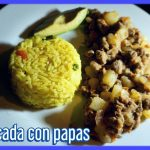 RECETA DE CARNE CON  PAPAS A MI ESTILO /  COMIDA SALVADOREÑA
