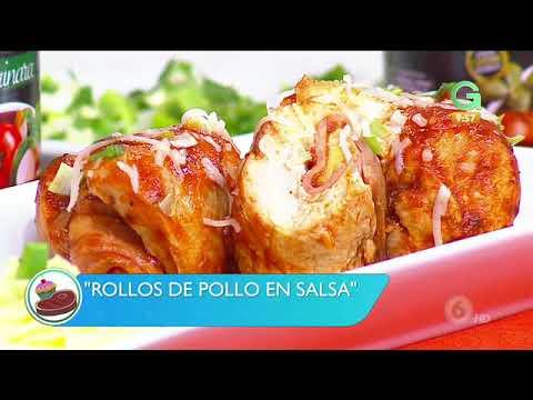 Receta de Secretos de Cocina de Unilever: Rollos de pollo en salsa marinara