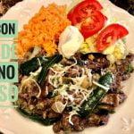 Receta de bistec con poblanos y queso, comida mexicana suzyymas,