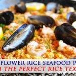 Receta de paella de mariscos y arroz con coliflor - baja en carbohidratos y sin granos
