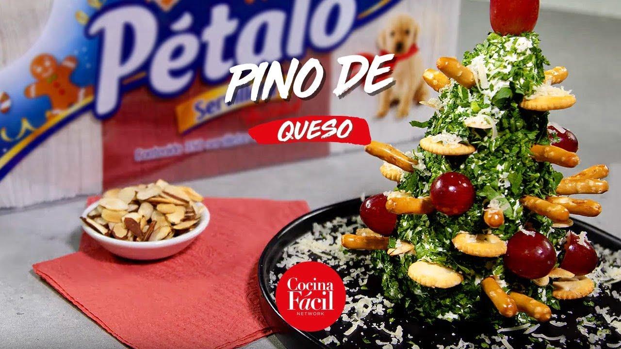 Receta de temporada: pino navideño de queso con toppings   Cocina Fácil
