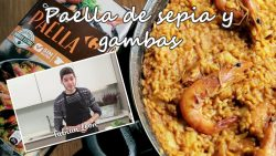 Recetas de Fabián León: Paella con sepia y gambas