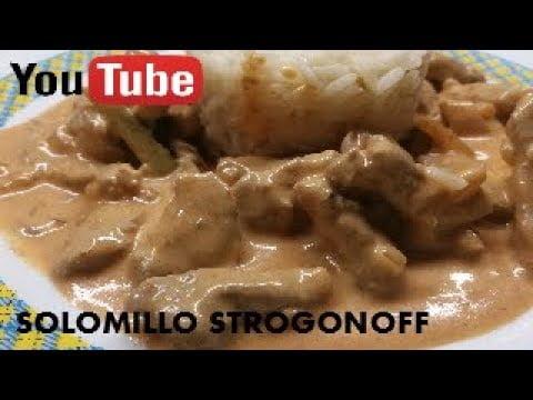 SOLOMILLO STROGONOFF [Recetas de cocina sencillas y ricas]