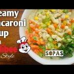 Sopa cremosa de pollo y macarrones ala Jollibee (SOPAS)