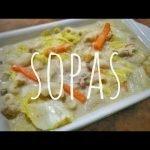 Sopas cremosas de pollo y cerdo   Receta filipina   Comida Bae