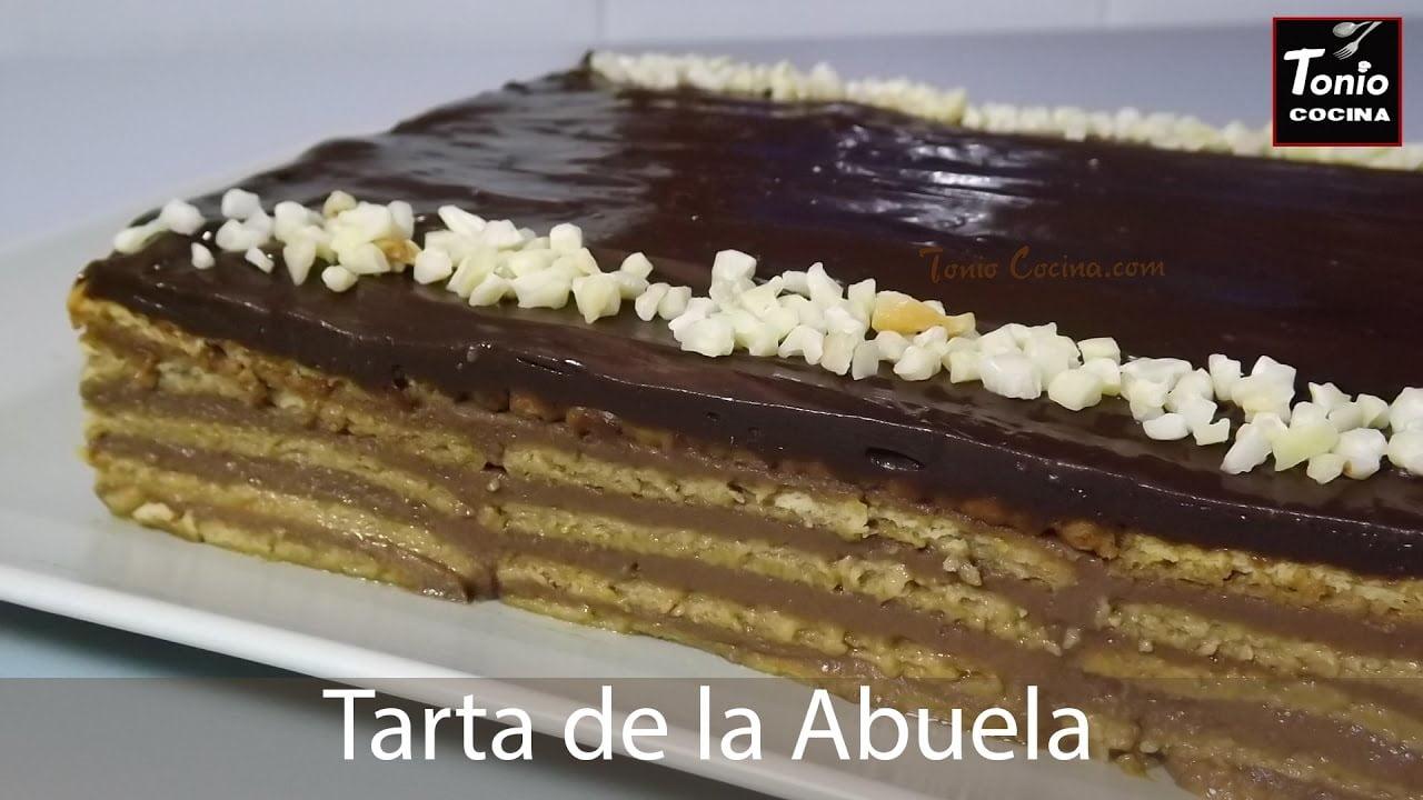 Tarta de la abuela de chocolate   Receta de postre sin horno