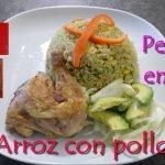 ARROZ CON POLLO PERUANO / RECETA FACIL Y ECONOMICA / Peruana en Suiza