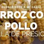Arroz con Pollo en Olla De Presion/Preassure cooker Arroz con pollo