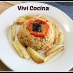 Arroz con pollo Colombiano (a mi manera )  receta fácil y deliciosa.